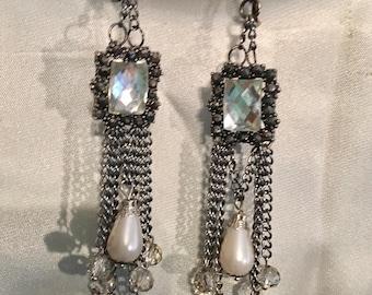 Crystal Frame Earrings