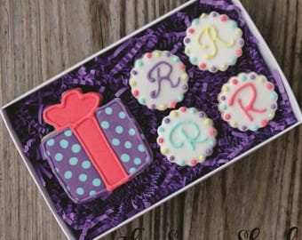 Medium Five Cookie Boxed Set - Present and Four Initial Circles