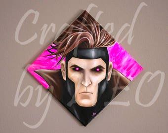 Marvel's Gambit painting canvas print