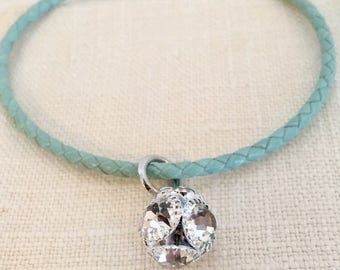 Teal Crystal Ball Bracelet