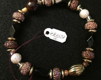 Dark Neutral Handmade Beaded Bracelet