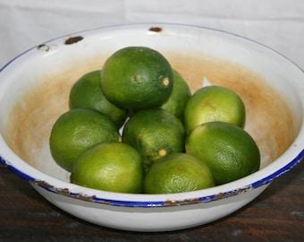 ON SALE Thru Sept. 1 /Enamelware Bowl / Vintage Enamel / Farmhouse Decor