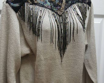 Lilly of California Beaded sweater