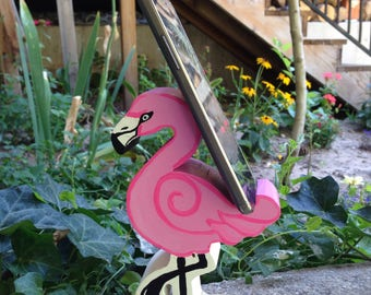 Flamingo cell phone holder, iPhone stand, android stand, cell phone stand
