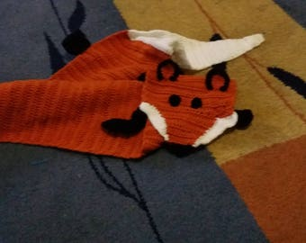 Crocheted  fox scarf