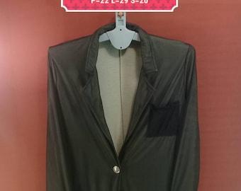 Vintage Krizia Jacket Single Button Blazer Super Soft Shirt Ladies Coat Black Colour Made in Italy Size 44 Yohji Yamamoto Comme des Garcons