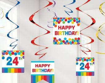 Rainbow Happy Birthday Personalisable Decorations, Rainbow Party, Rainbow decorations, Rainbow Birthday, Birthday Sign, Rainbow Party