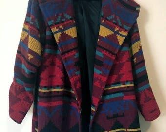 Vintage women's winter coat with hood. XL