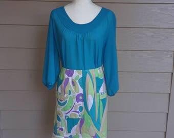 Cotton Abstract Print Skirt