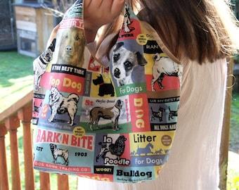 Small Carry bag Hobo Bag Dog Lovers