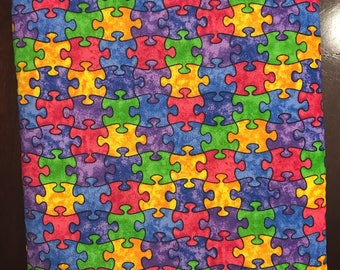 Autism Puzzle Piece Book Sleeve - Large