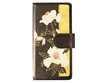 Smart phone case Universal type flower design  phone wallet