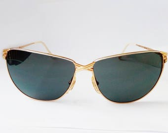 Cateye sunglasses/ Vintage Sunglasse/Gold Sunglasses Vintage/Casanova Brand/Gold Frame/ butterfly shape/Bride sunglasses/Mom gift.