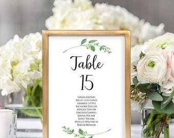 Wedding Seating Chart Template Wedding Seating Chart Table Numbers Seating Chart Cards Table Cards PDF Instant Download Jasmine Collection
