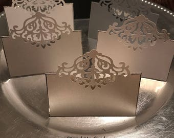 Elegant Blank Flat & Standup Place-Cards Set of 10 *Free Shipping*