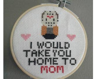 Jason Voorhees Cross Stitch