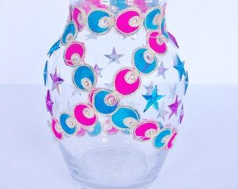 Clear Glass Flower Vase