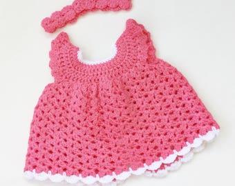 Crochet Newborn Baby Dress