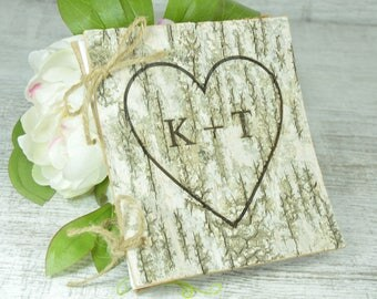 Rustic guest book wedding guest book rustic wedding guestbook country wedding wood guest book rustic guestbook custom guest book birch bark