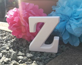 Ceramic Letter 'Z' Bespoke Hand Painted to Order