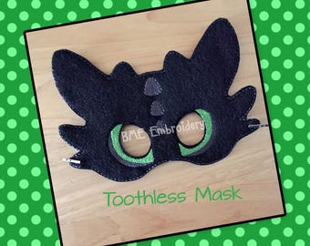 Toothless Mask-Dress Up-Halloween Mask/Costume-Dress Up-Pretend Play-Imaginary Play-Birthday Party Favor-Theme Parties-DragonMask-Photo Prop