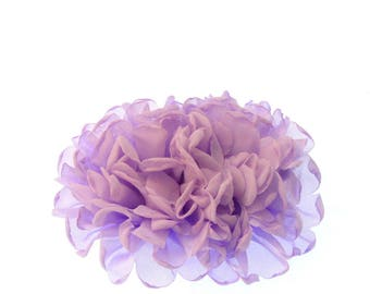 double headed flower  on a long 9cm clip, wedding,races,prom