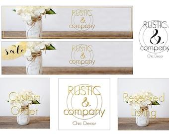 Shop Banner Set, Premade Banner Set, Preamde Branding kit, Premade Logo, Banner Set, Graphic Design, Graphic Design Logo, Cover Photo, Logo