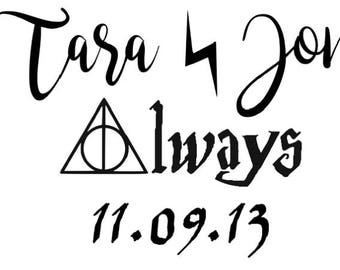 "Harry Potter ""Always"" Custom Name Decal"