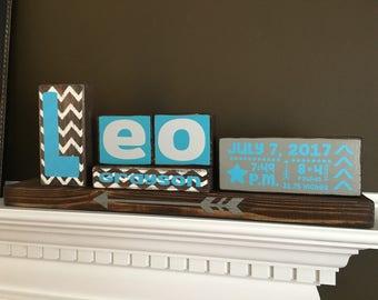 Custom Personalized Wood Name Blocks