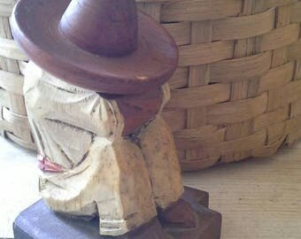 Mexican Man/Woman Wooden Bookends