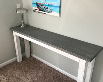 """72"""" Grey Chabby Chic Console Table"""