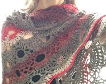Custom Crochet Virus Shawl Wrap