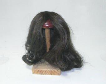"doll wig dark brown 12.5"" to 13.5"", long hair/human hair/Starlight"