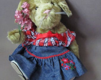 Hopscotch, a Bunny Friend with a Gift of Flowers for You