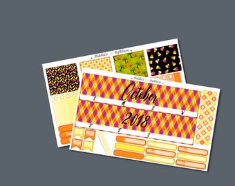 """October 2018 Monthly Planner Sticker Kit """"Candy"""": Made to fit Erin Condren Life Planner"""