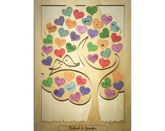 Tree Wedding Guestbook Puzzle