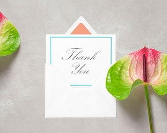 Wedding Thank-you Cards, stationary, blue, grey
