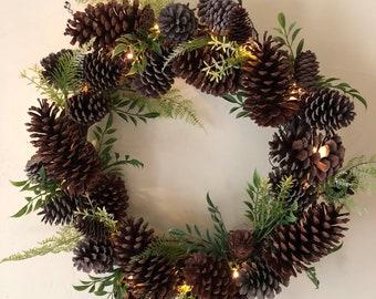 Pinecone & Greenery Wreath