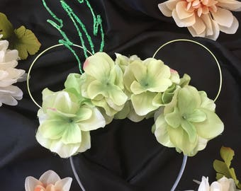 Glow in the dark Tinkerbell and peter pan Inspired Wire Mickey Ears Headband