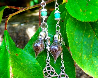 "Earrings ""Enchantment of protection"""