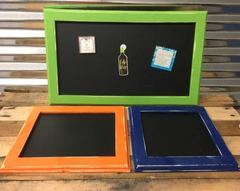 Magnetic chalk board set