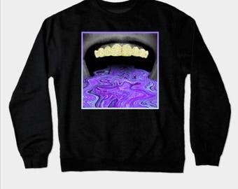 Gold Grillz Hoodless Sweatshirt