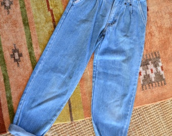 Vintage Elite Light Wash Denim Jeans / size 7 Girls