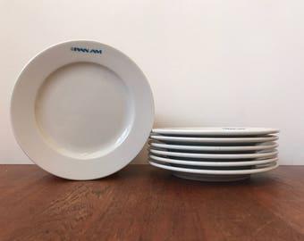 Pan Am delco porcelain plates set of 7