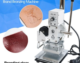 FREE SHIPPING Hot Foil Stamping Machine Manual Bronzing Machine for PVC Card leather and paper stamping machine