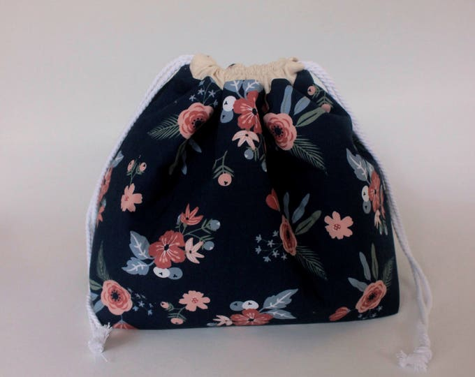 Drawstring Project Bag Large REVERSIBLE