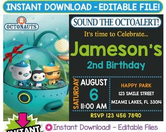 SALE 60% OFF: Octonauts Invitation, Octonauts Birthday Invitation, Octonauts Invitation Instant Download, Octonauts Party, Editable Invite