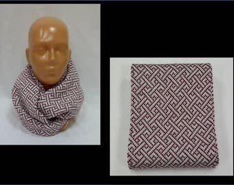 Infinity scarf, knitted circle scarf