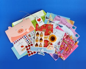 Sticker and Stationery Letter Writing Set - Snail Mail
