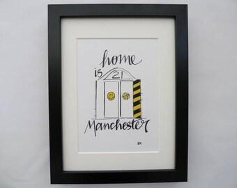 24cmx18cm, Hacienda original print, Manchester Art, Manchester Print